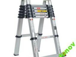 Стремянка-лестница телескопическая 2,1 - 3,8м