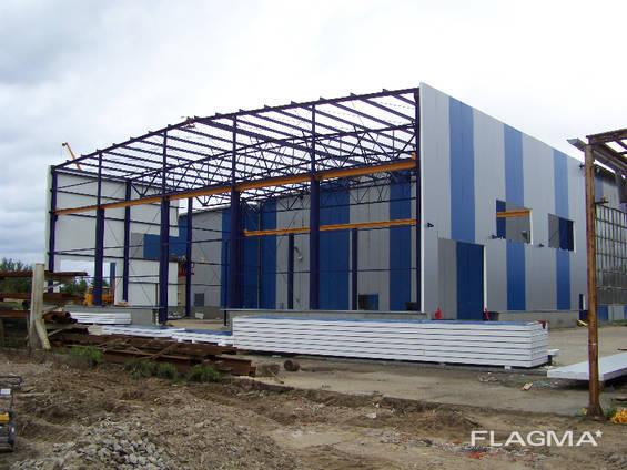 Строительство ангара, склада металического под производство