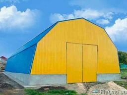 Строительство ангаров, складов, цехов, зернохранилищ