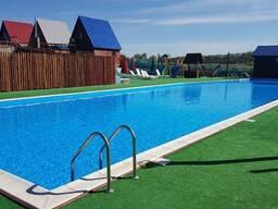 Строительство бассейнов, бань и саун. Ландшафтный дизайн.