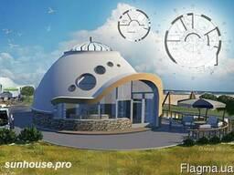 Строительство базы отдыха. Купольные домики.