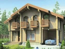 Строительство деревянного дома из оцилиндрованного бревна 8х