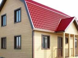 Строительство дома из профилированного бруса 7×9 м