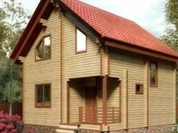 Строительство дома из профилированного бруса 7×7 м