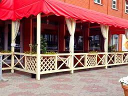 Летняя площадка. Строительство Летнее кафе из термодревесины