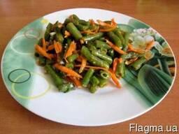 Стручковая фасоль с морковкой по-корейски