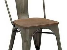 Стул Tolix MC-001K graphite wood (графит дерево)