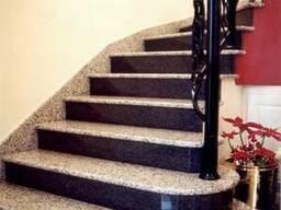 Гранитные ступени для лестницы в Одессе