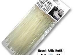 Стяжки кабельные пластиковые, белые, Neutral,  4,8*200 мм, TS1148200N