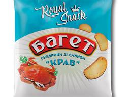 """Сухарики пшеничні багет зі смаком """"Краб"""" 35 г ТМ Royal Snack"""