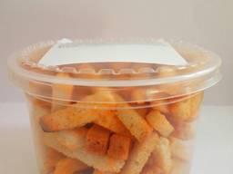 Сухарики пшеничні зі смаком сметани та зелені 80г (18шт/ящ)