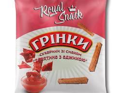 """Сухарики житні грінки зі смаком """"телятина з аджикою"""" 35 г ТМ Royal Snack"""