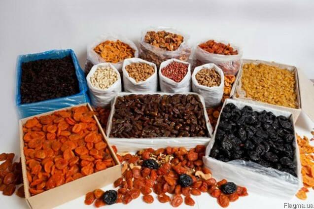 Сухофрукты оптом: изюм, чернослив, инжир, финики, курага;