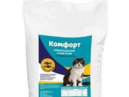 Сухой корм Комфорт для кошек с морепродуктами 10 кг оптом