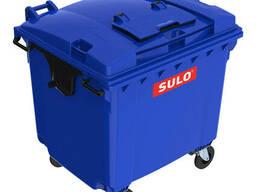 Sulo пластиковий сміттєвий контейнер, кришка в кришці для збору вторсировини 1, 1 м3.