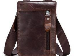 Сумка-клатч на ремень мужская коричневая Vintage Vntg14690