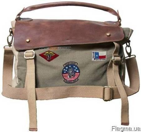 57af8fb57113 Сумка Top Gun Messenger Bag with Patches цена, фото, где купить ...