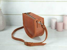 Сумка женская. Кожаная сумочка Фуксия, Винтажная кожа, цвет Коньяк