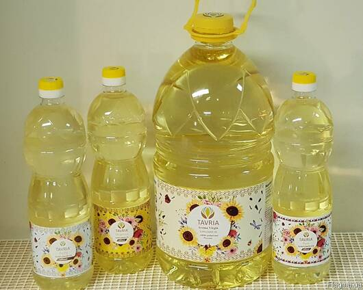 Sunflower oil for export