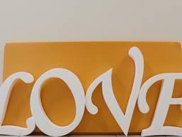 Свадебный декор фигуры, буквы, слова из пенопласта