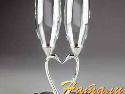 Свадебные бокалы от студии свадебной флористики Натали