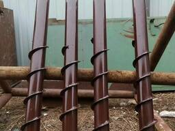 Сваи винтовые для установки зонтиков на летних площадках