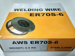 Сварочная омеднённая проволока ER70S-6 (нетто 4 кг. , аналог СВ08Г2С)