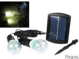 Светильник фонарь на солнечной батарее 2х20LED, датчик света