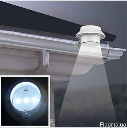 Светильник фонарь на солнечной батарее 3LED с датчиком света