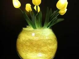 Светильник ночник (декор) - желтые тюльпаны Код: T7-001