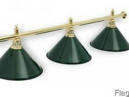 Светильники бильярдные 3 плафона ( для стола 7-8 фт )