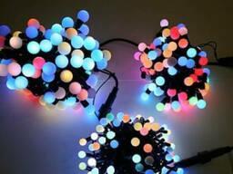 Светодиодные шарики, гирлянда нить светодиодная 10 метров