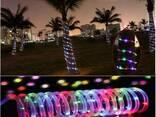 Светодиодная гирлянда на солнечной энергии Спираль RGB - фото 1