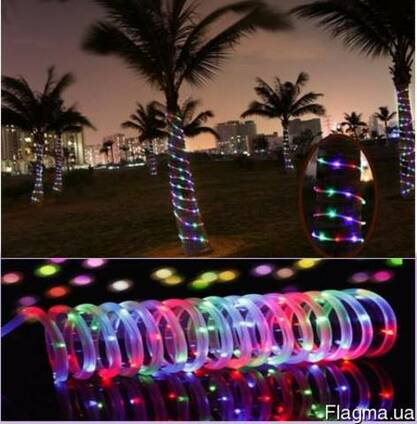 Светодиодная гирлянда на солнечной энергии Спираль RGB
