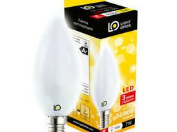 Светодиодная лампа Light Offer LED C38 7W E14 4000K 650Lm. ..