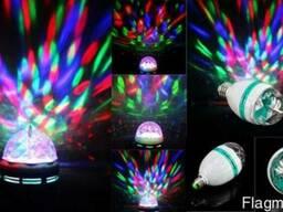Светодиодная лампа RGB вращающаяся MiniDisco