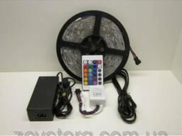 Светодиодная лента многоцветная RGB 5050 60LED 5 м.