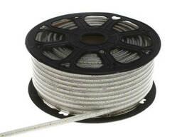 Светодиодная лента в силиконе теплый оттенок BY-028/120 220V 100м 2835 WW White PCB IP65
