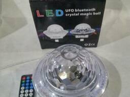 Светодиодный дискошар LED UFO Bluetooth Crystal Magic Ball