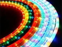 Светодиодный LED дюралайт круглый и квадратный