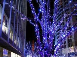Световая нить 10 метров, наружные гирлянды, новогодняя подсвет
