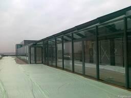 Светопрозрачные фасад, вентилируемые фасад
