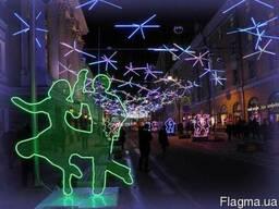 Световые фигуры из гибкого неона