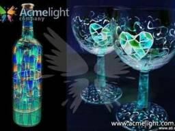 Светящиеся и флуоресцентные краски Acmelight в дизайне!