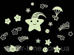 Светящиеся звездочки на потолок, стену купить (05742)