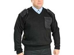 Свитер охранника, полушерсть с горловиной под галстук