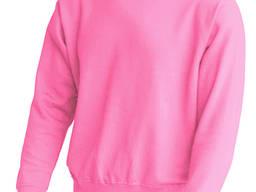 Толстовка нежно розового цвета, нанесение логотипа