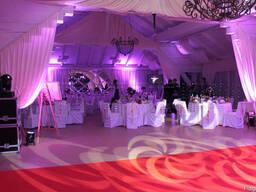 Світловий декор залів, декорування світлом, світло