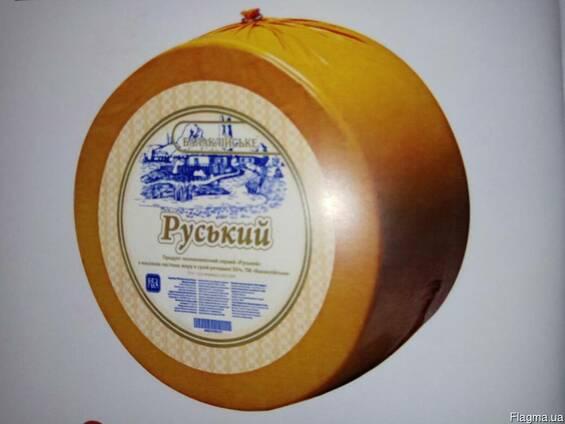 """Сырный продукт """"Руський"""" 50% , круг"""