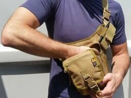 Тактические сумки камуфляж и однотонные